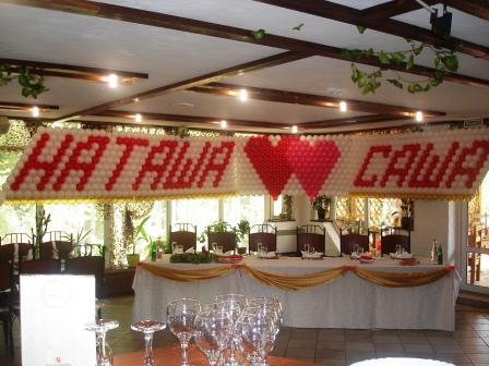 Свадьба оформление воздушными